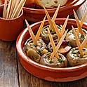 Mushrooms sautéed with garlic and white wine