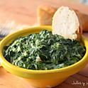 Spinach with cream béchamel