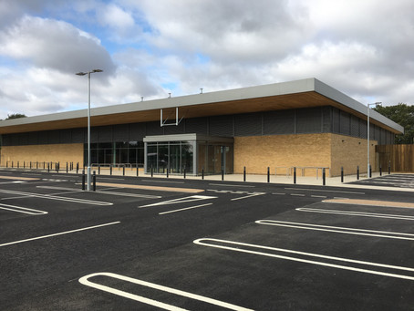 Completed Sainsbury's store shell, Olney