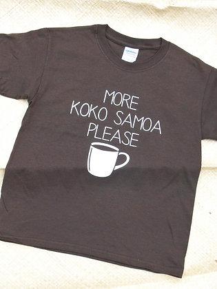 """""""More koko Samoa please"""" keiki (youth) tee"""
