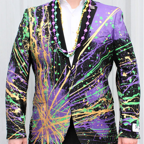 FAT FRENCHMEN Mardi Gras Suit Blazer
