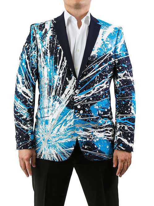 THE BLUE PANTHER Painted Jacket Blazer