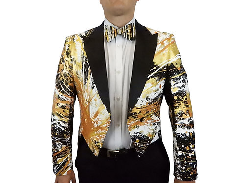 THE KING TUX TAILS Tuxedo Tails Painted Jacket