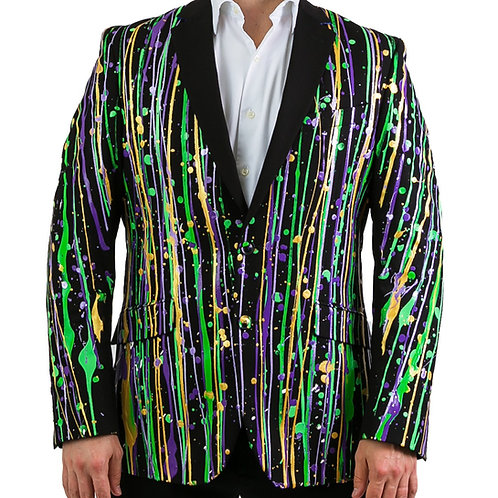 THE KING CAKE Mardi Gras Suit Blazer