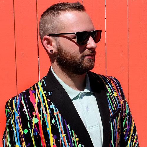THE ROY G. BIV Painted Suit Blazer