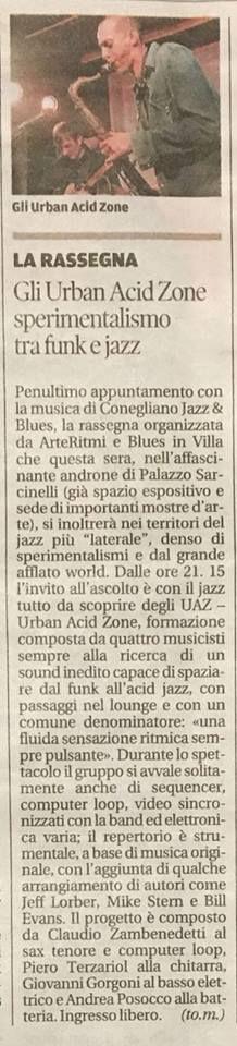 Conegliano Festival 2018 - Rassegna stampa UAZ