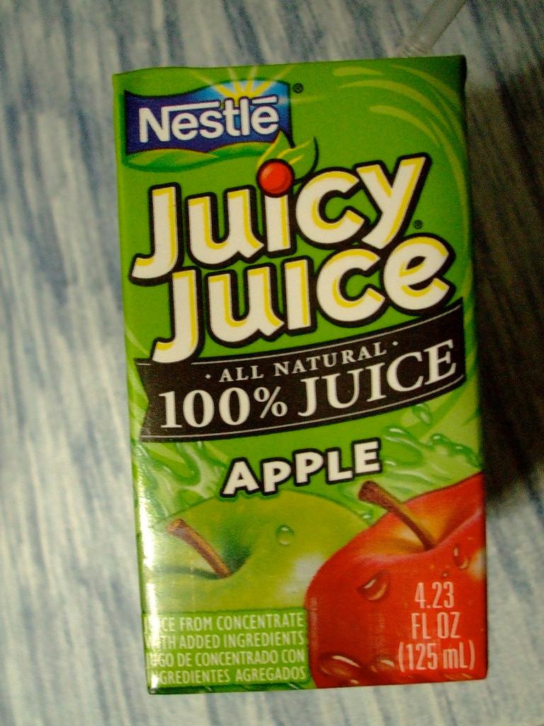 Low-carb: sugary drinks, juice box