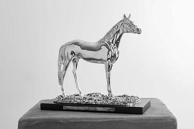 Silbernes Pferd von Carsten Sostmeier