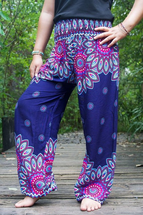 FLORAL MANDALA Women Harem Pants Boho Pants Hippie