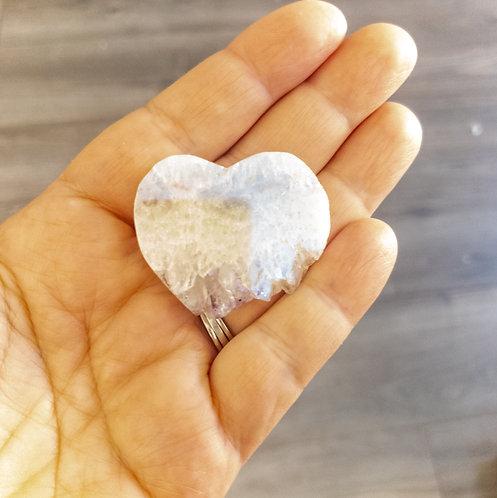 Angel Aura Heart Shaped Amethyst Slice