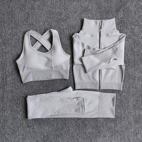 Yoga Suit Seamless Long Sleeve