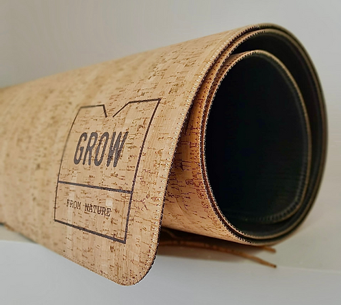 Yoga Mat made of natural cork, rustic cork pattern