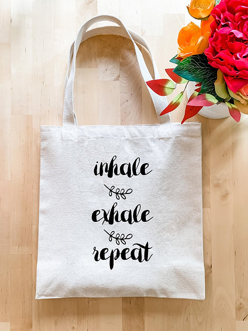 Inhale Exhale Repeat - Tote Bag