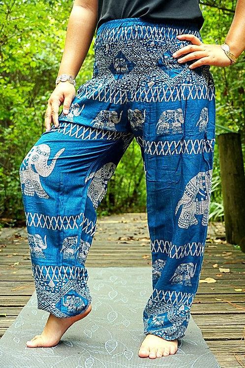 Teal ELEPHANT Pants Harem Pants Women Boho Pants Hippie