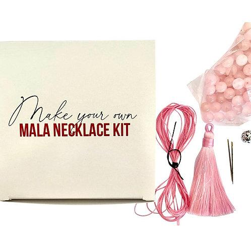 Make Your Own Mala- Rose Quartz