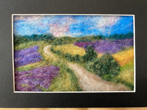 Postcard from Provence - 2D felting