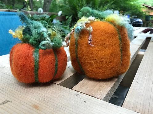 Felted Pumpkins Workshop