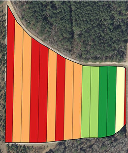 Application map generated by GIS using drone data.