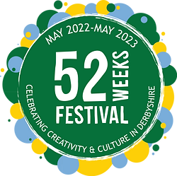 52 Weeks Festival Logo Celebrating Creativity and Culture in Derbyshire May 2022 - 2023