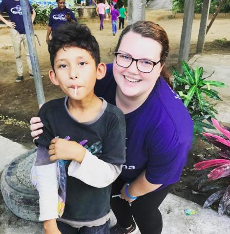 Sarah volunteering in Nicaragua
