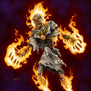 Gaming Card: Flame Zombie