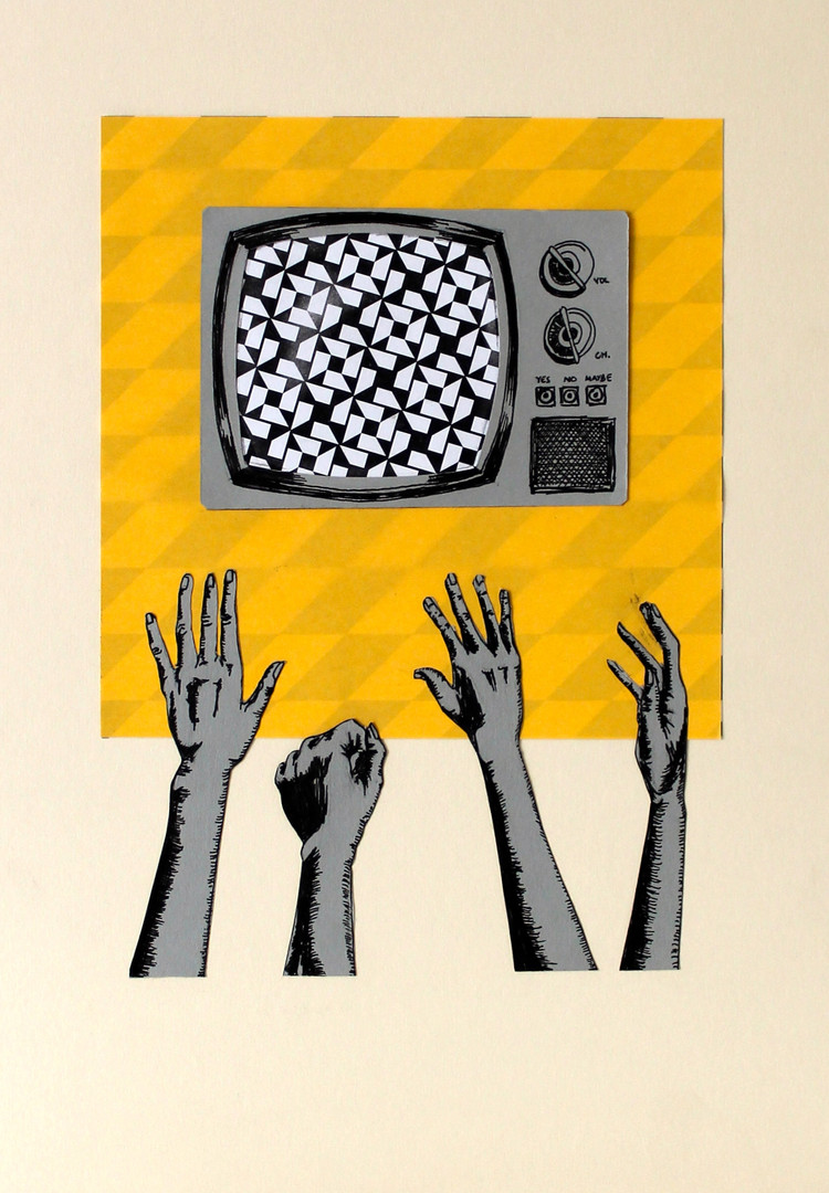 Remote Control / Ink drawing and collage / 2014