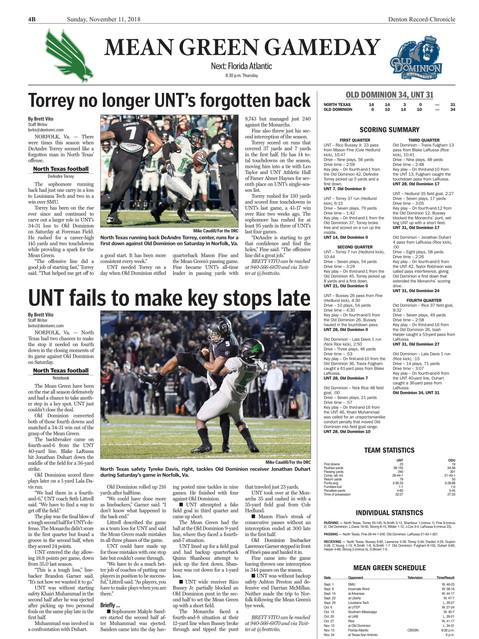 Denton Record Chronicle ODU vs North Tex