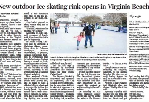 Virginian-Pilot Story on Ice Rink Openin