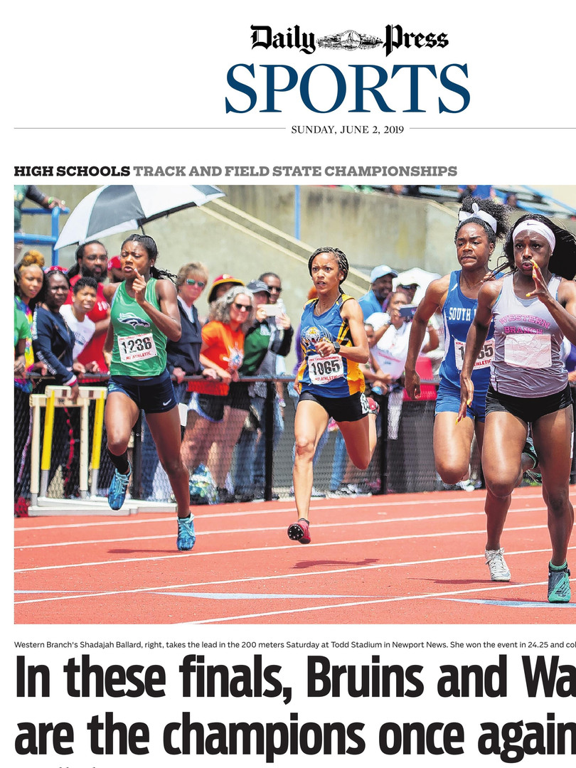 Daily-Press Sports Front Page State Trac