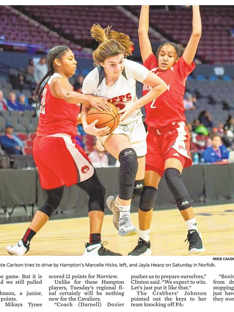 HS Girls Basketball Kempsville vs Hampto
