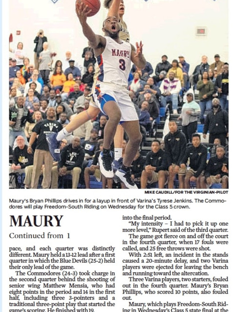 HS Basketball Maury vs Varina
