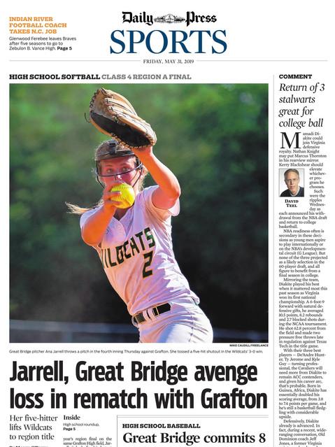 Daily-Press Sports Front Great Bridge So