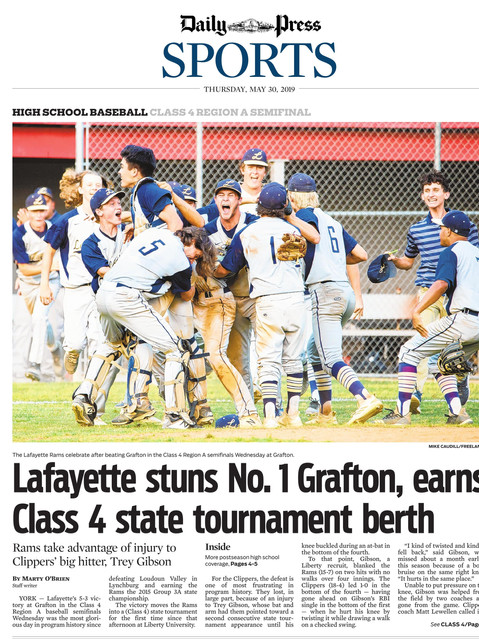 Daily-Press Sports Front Page Lafayette