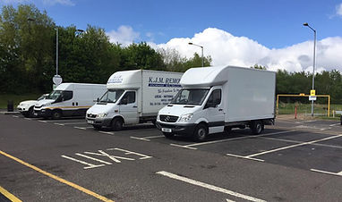 Our two vans in London