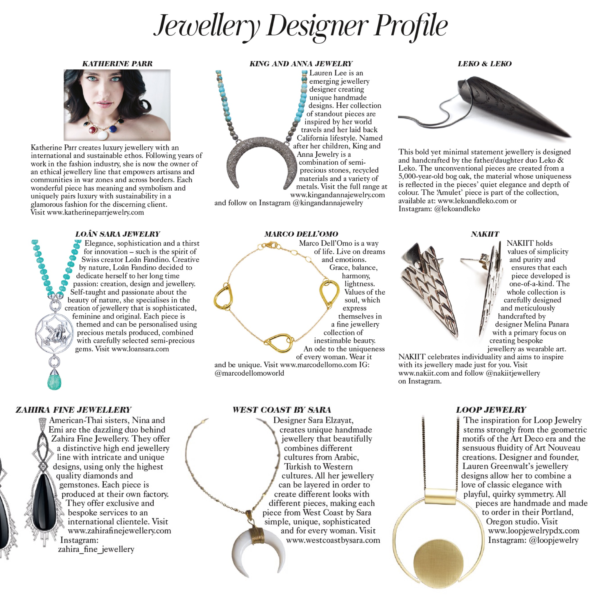 Loop Jewelry Designer Profile, Vogue