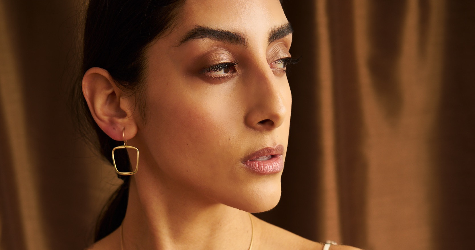 Melibe and Soft Square earrings