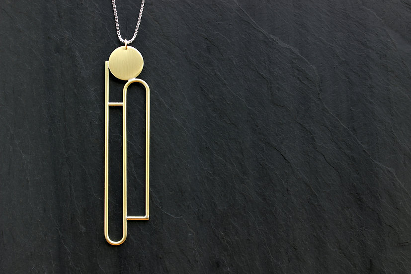 Loop Jewelry Brass Comet Necklace