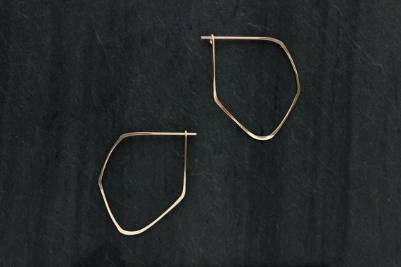 Gold Fill Facet earrings by Loop Jewelry of Portland, Oregon.
