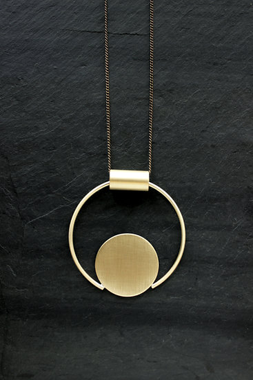 Brass Eloria Necklace, by Loop Jewelry
