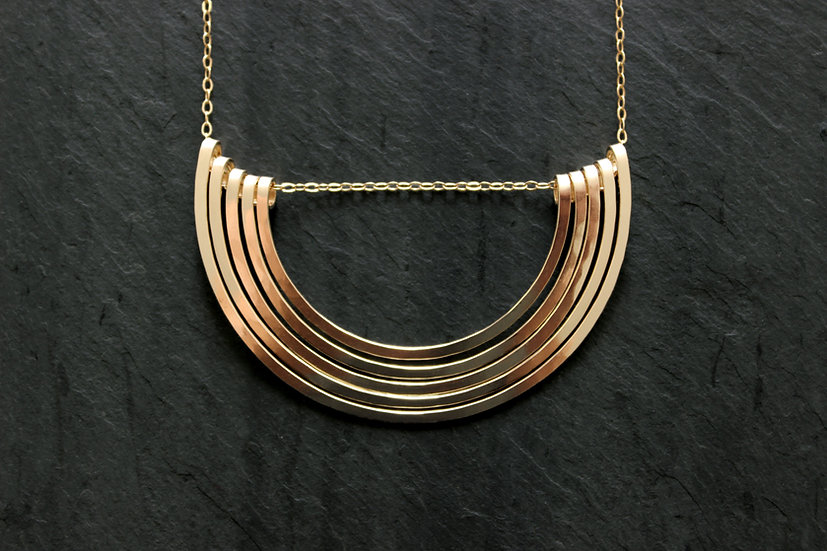 Gold-fill Hadena Necklace, By Loop Jewelry