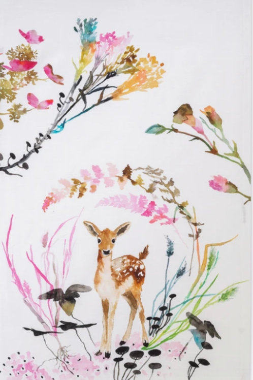 Fawn Vignette Tea Towel