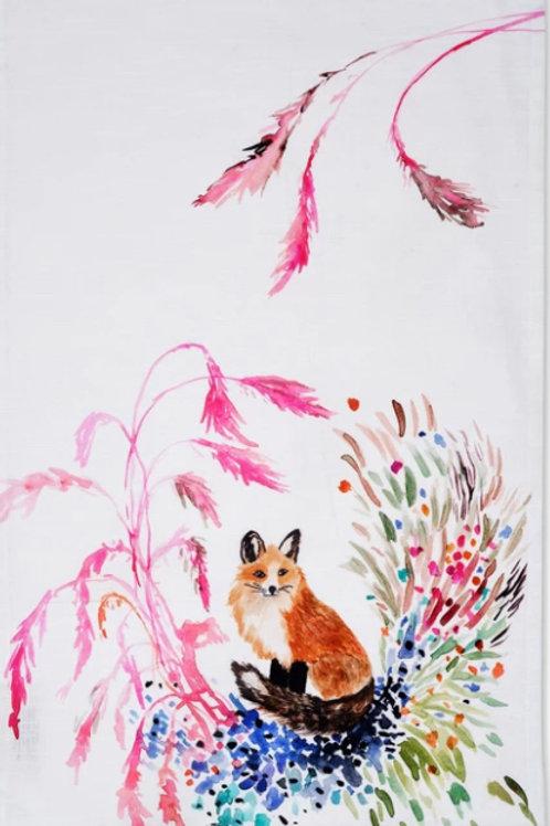 Tea Towel- Fox Vignette