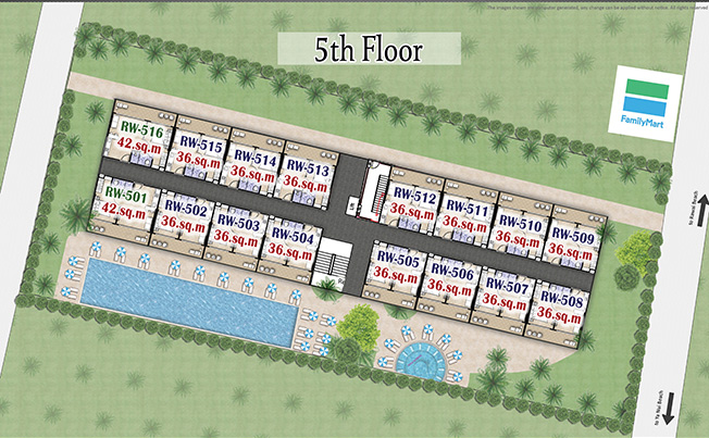 Rawai Beach Condominium - Floor Plan