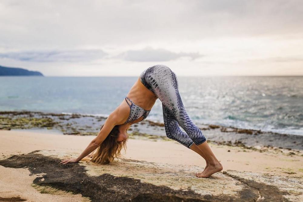 Downward dog pose for yoga