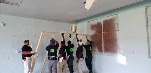 Men working on renovation