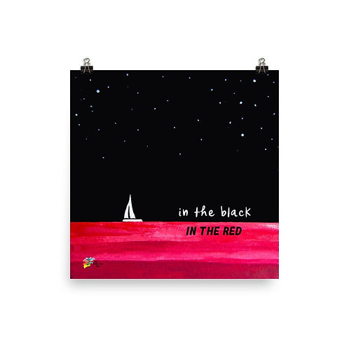 Accountant Art Print In The Black In The Red
