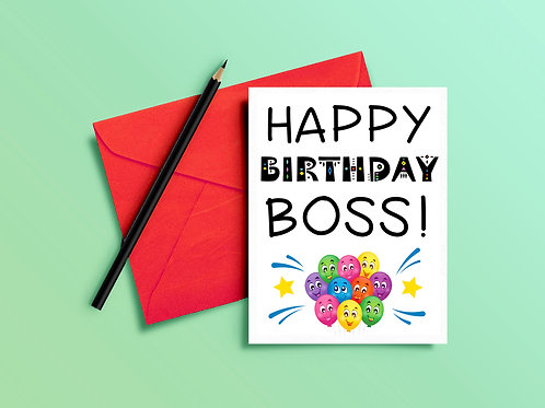 Birthday Card for Boss