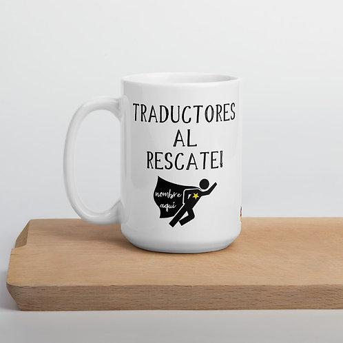 Translator Superhero Mug in Spanish
