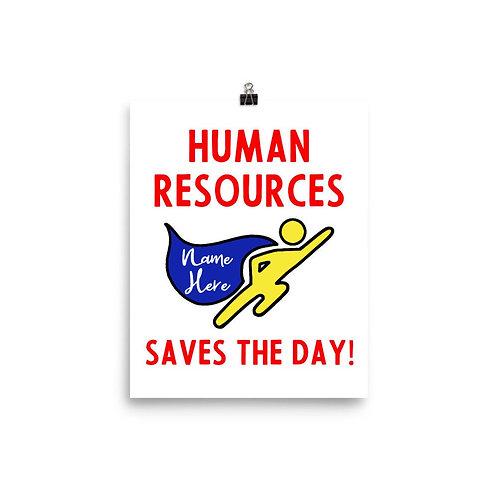 Human Resources Superhero Art Print