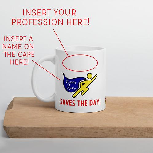 Superhero Custom Mug for Employee and Client Gifts
